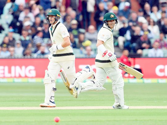 David Warner (R) and Marnus Labuschagne