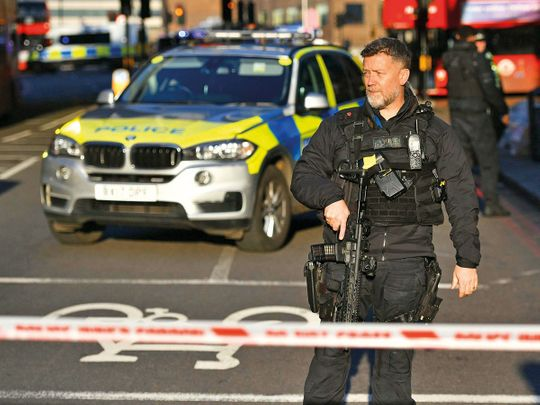 Police terror London Bridge in central London