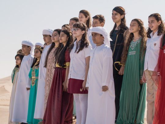 Expo 2020 - National Day Video 2019 - Children from the Raffles World Academy Choir in the Dubai Desert (2)-1575185155432