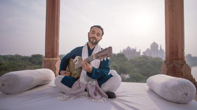 Expo 2020 - National Day Video 2019 - Indian Slide Guitarist Niki Muki at the Taj Mahal in India-1575184719257