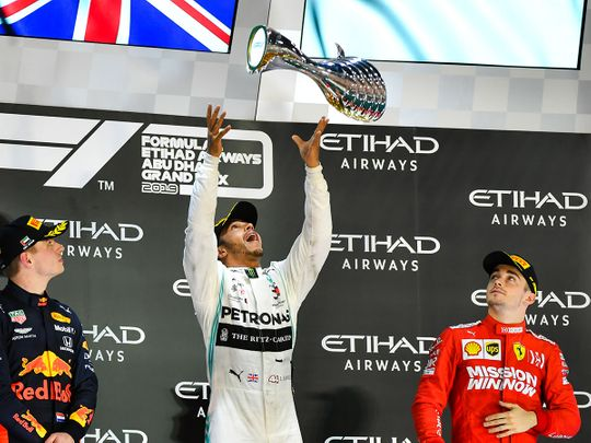 Hammer time for dominant Lewis Hamilton