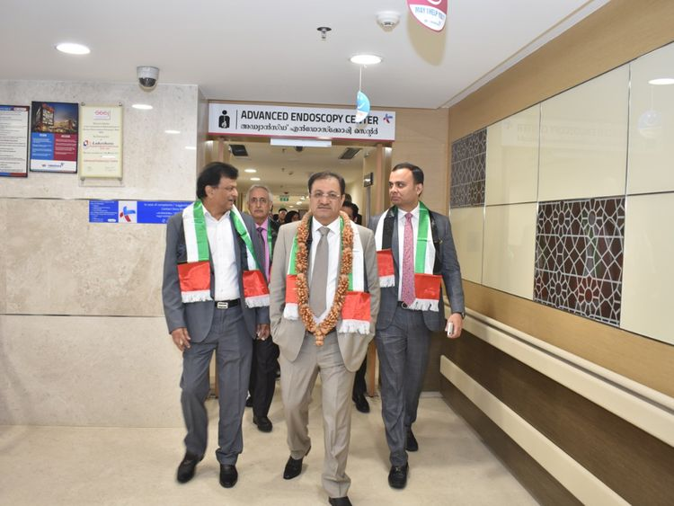 Al Qutami and the DHA delegation