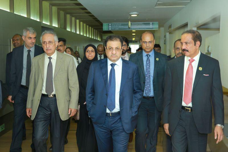 DHA DG Al Qutami and Dr Azad Moopen in Aster MedCity Kochi