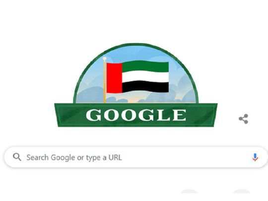 Google 'doodle' on UAE @48