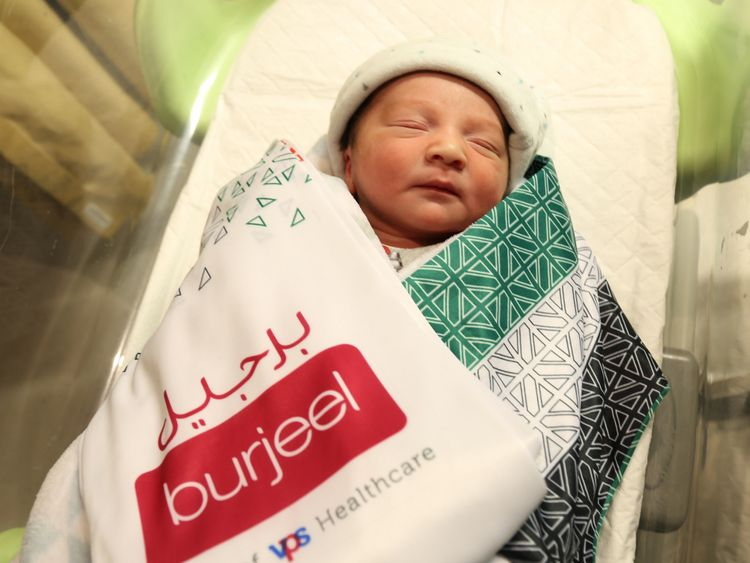 NAT 191202 Baby Rayan Foukadji born at Burjeel Hospital Abu Dhabi-1575280760699