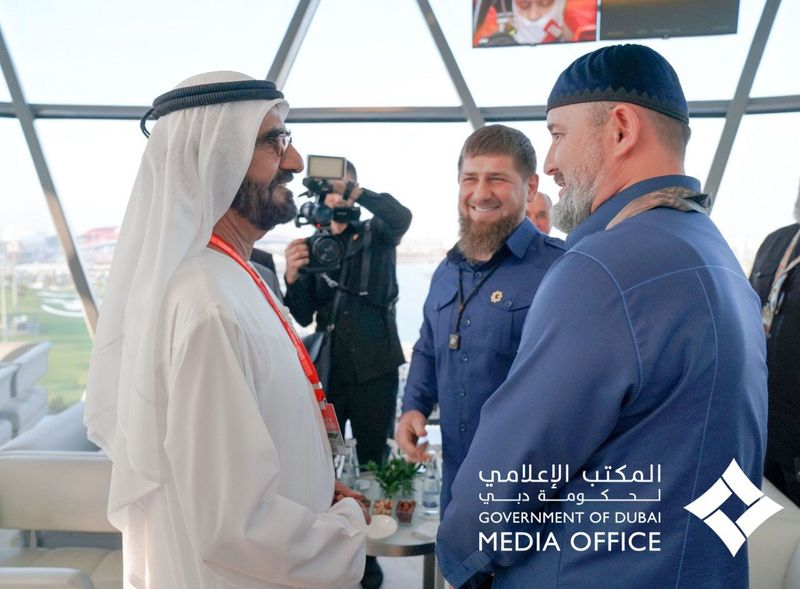 Shk Mohammed with Chechen Leadr