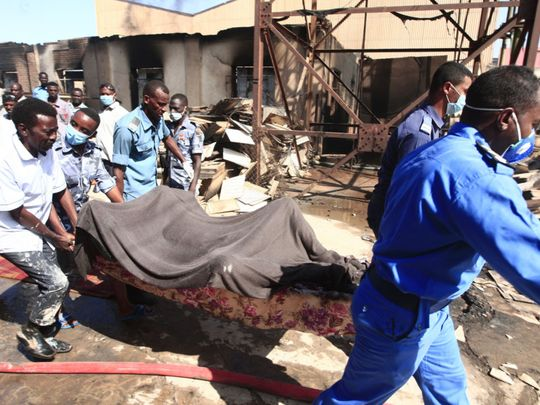 Pictures: Explosion at Sudan factory kills 16