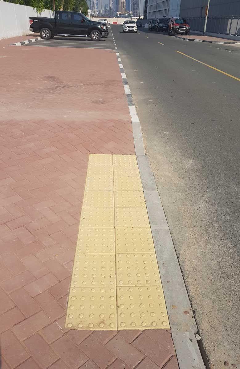 Tactile paving in Dubai