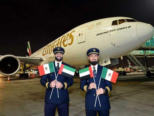 Emirates flight mexico