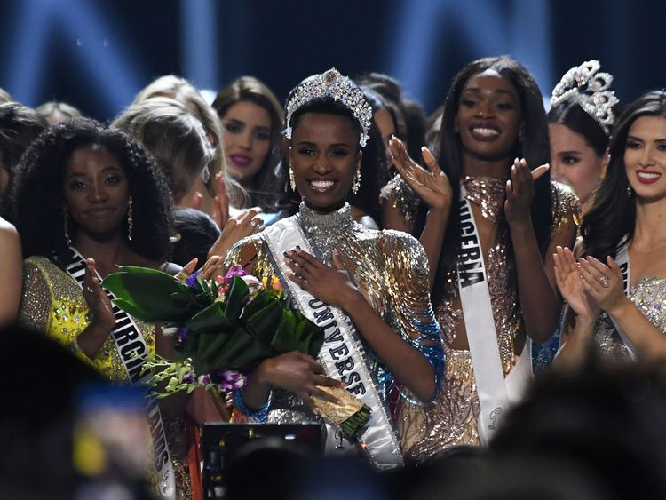 Newly crowned Miss Universe 2019