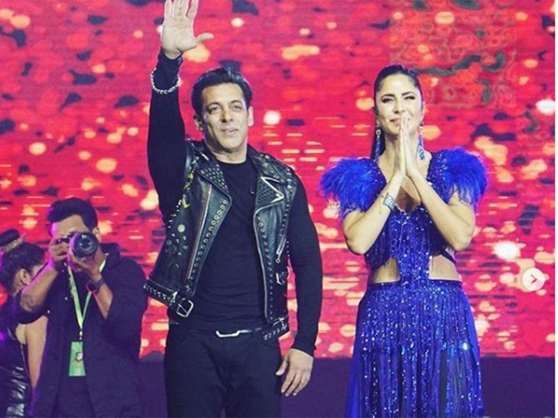 Salman Khan & Katrina Kaif in Bangladesh Premier League during opening ceremony.