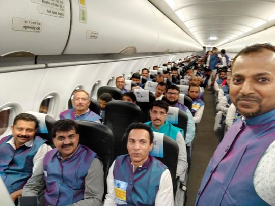 NAT 191210 Kannur-Abu Dhabi maiden flight-1575982291964