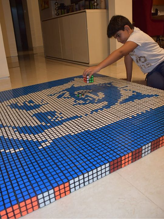 Rubik Cube boy
