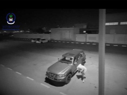 Sharjah car thefts CCTV