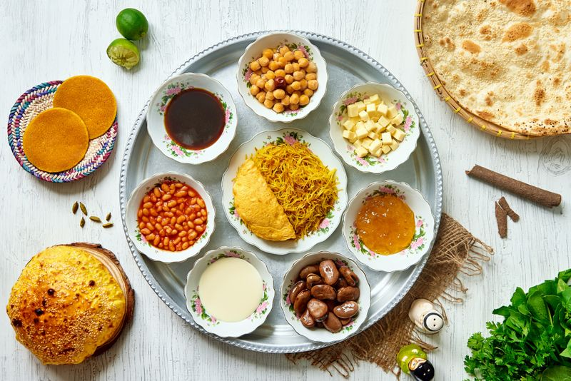 Special Emirati Breakfast Tray Arabian Tea House-1575965943712