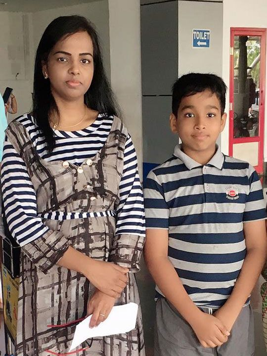 Revathi with her son