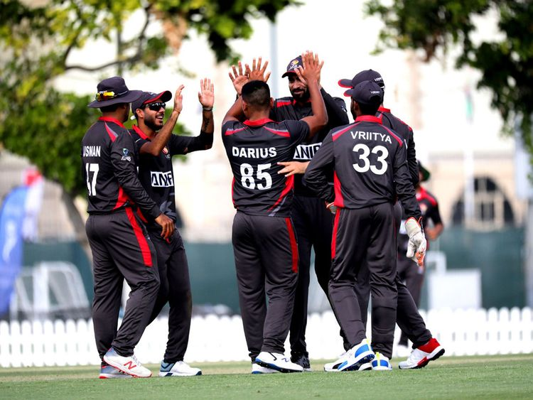 The UAE were looking good against the US before a batting collapse.