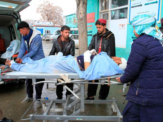 A wounded man is brought to a hospital