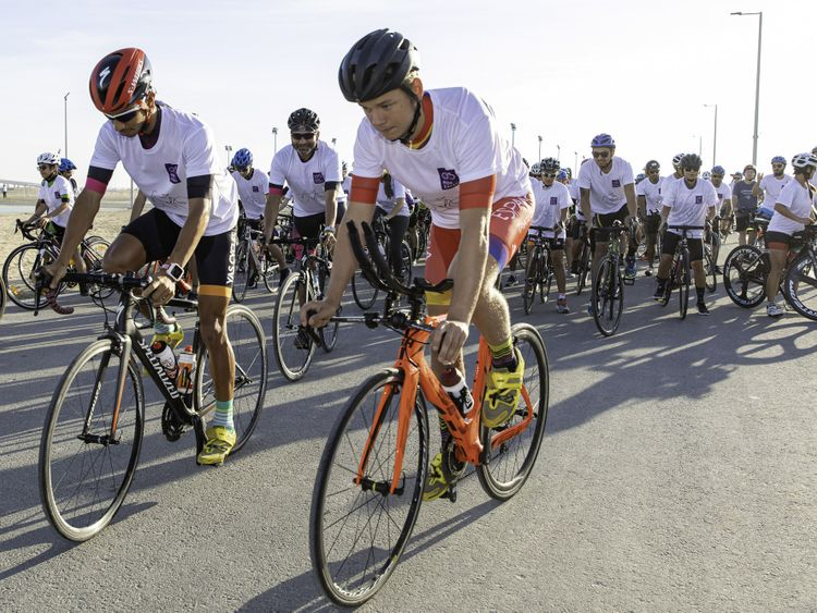 NAT 191213 Faris Al Zaabi leading the participants 001-1576241069907
