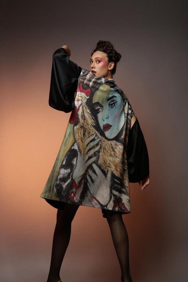 WKR kimono from wearable art series by Suzi Nassef.-1576317670769