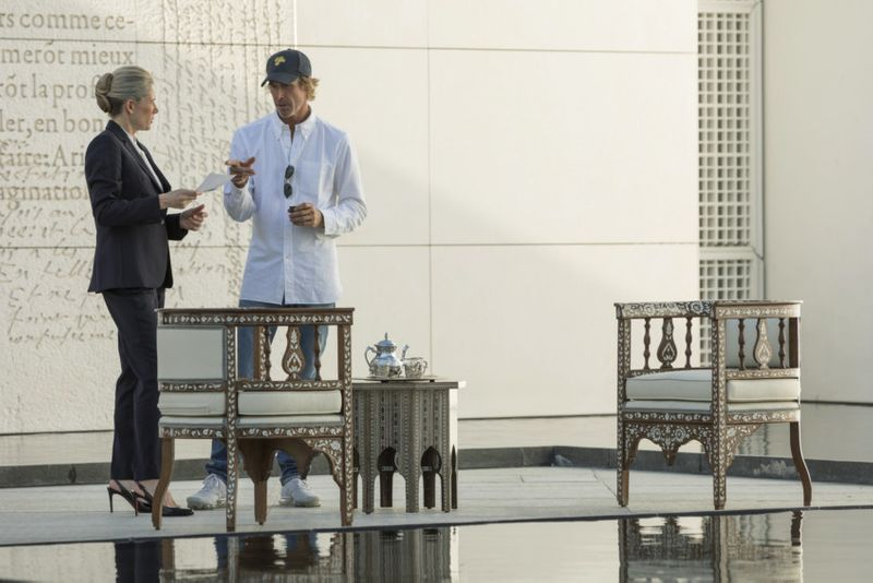 MICHAEL BAY while shooting the first feature film ever to be filmed in Louvre Abu Dhabi.-1576417841070