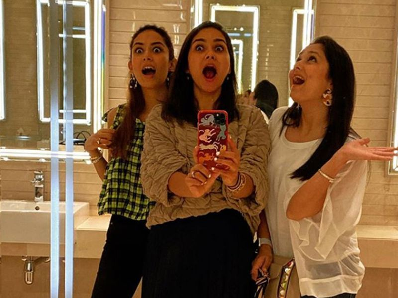 Mira Rajput with her friends at the U2 concert