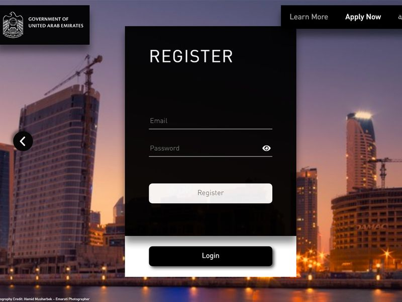 Golden visa process log in register
