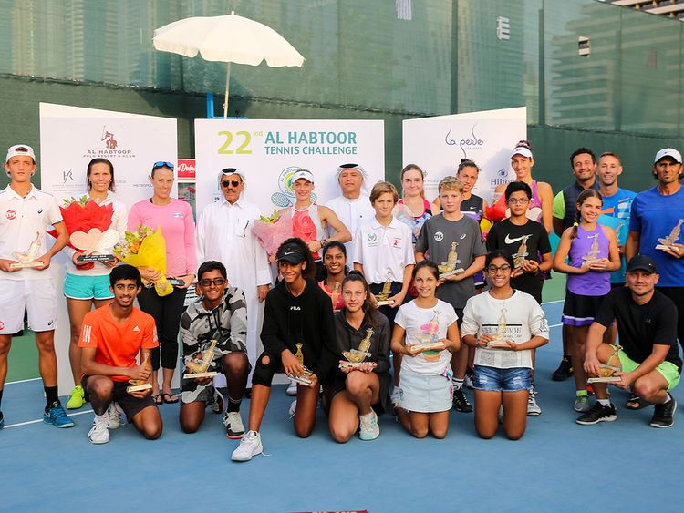 The Habtoor champions and their trophies