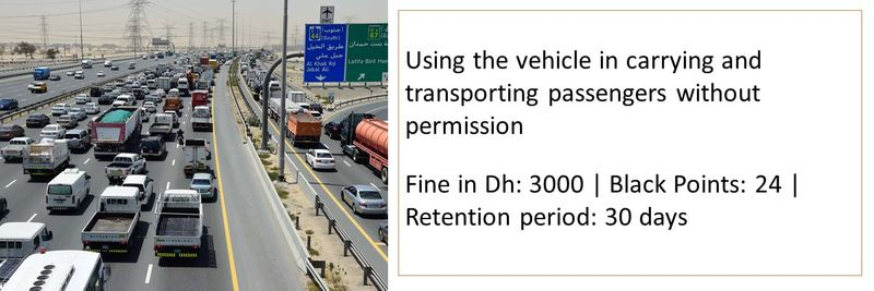 Traffic fines UAE