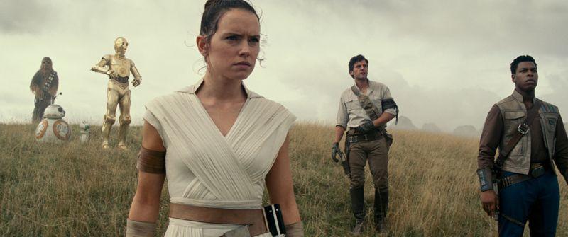 1. (Left to right( Chewbacca (Joonas Suotamo), BB-8, D-O, Rey (Daisy Ridley), Poe Dameron (Oscar Isaac) and Finn (John Boyega) REVIEW-1576645790272