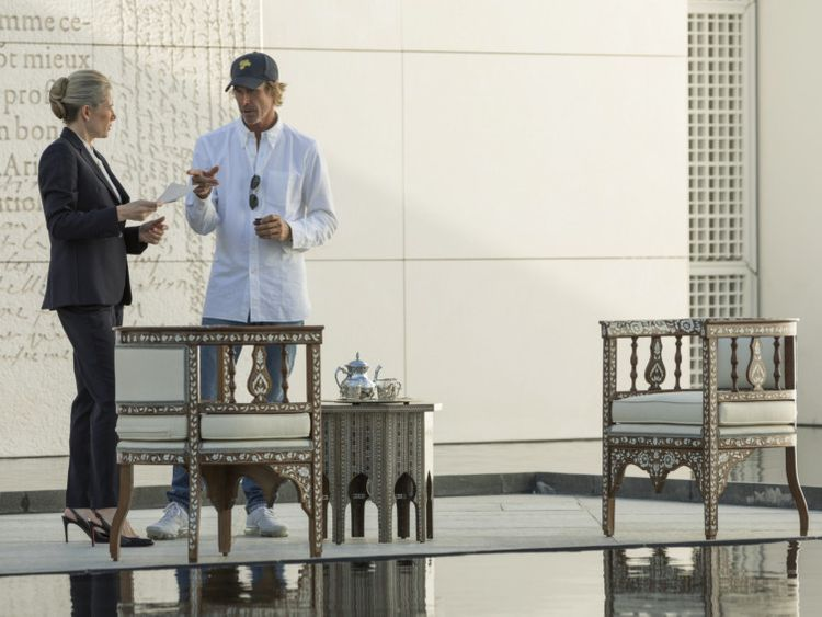 MICHAEL BAY while shooting the first feature film ever to be filmed in Louvre Abu Dhabi. A-1576668215919