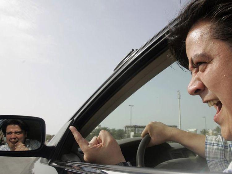 Auto road rage
