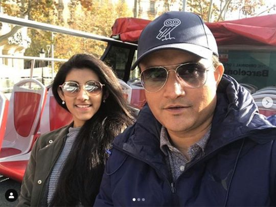 Sourav Ganguly and his daughter Sana Ganguly