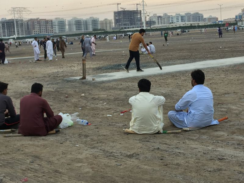 Mass cricket matches in Sharjah
