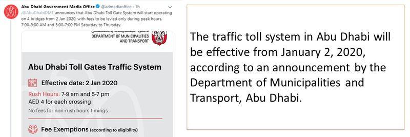 Abu Dhabi toll 1