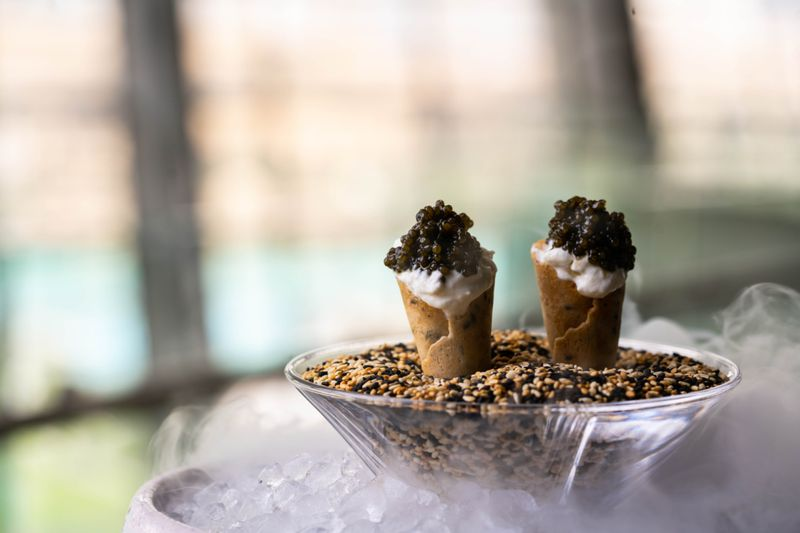 Caviar cones at The Loft-1577002617229