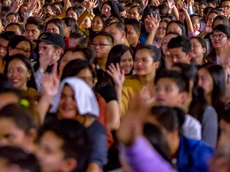 Filipinos at St Mary's Church in Dubai