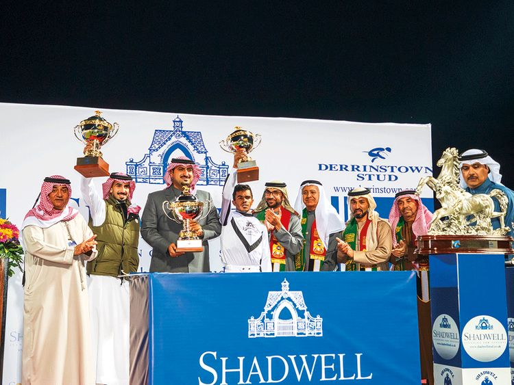 Sheikh Khalid Bin Sultan Bin Abdul Aziz, Shadwell chairman Mirza Al Sayegh and officials in Saudi Arabia.