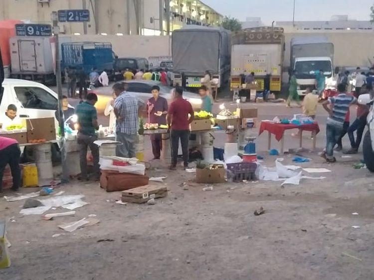 Street vendors in Al Quoz