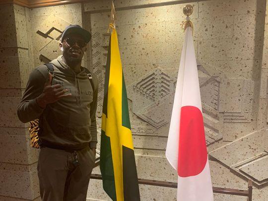 Usain Bolt in Tokyo.
