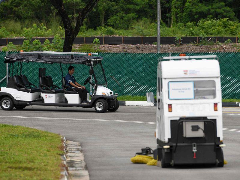an autonomous road sweeper