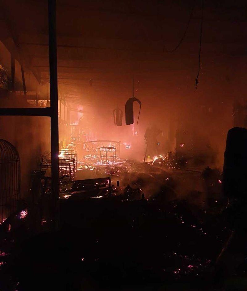 Burnt house in Ajman fire
