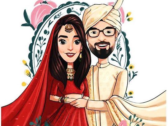 Iqra Aziz and Yasir Hussain's wedding invite-1577081649213