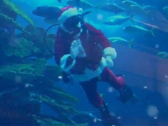 Santa Claus at Dubai Mall