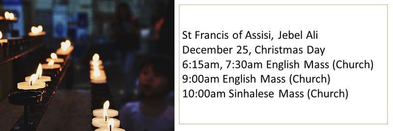 Christmas mass timings