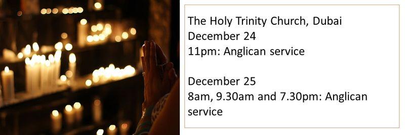 Holy Trinity Church Christmas Mass timings
