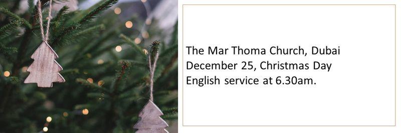 MarThoma Curch Dubai Christmas Mass timings