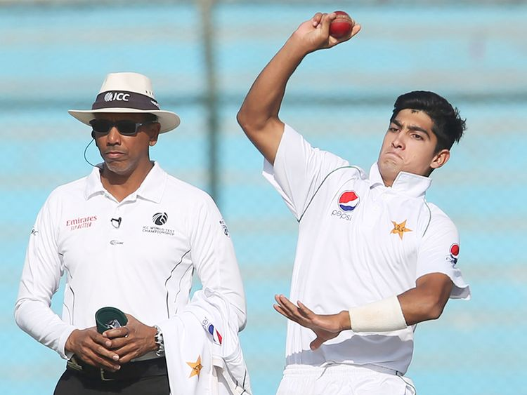 Pakistani bowler Naseem Shah