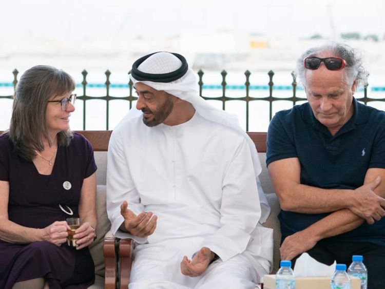 Sheikh Mohamed Bin Zayed  with Kennedy family