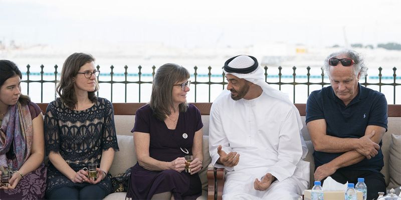 Sheikh Mohamed Bin Zayed Al Nahyan receives Kennedy family
